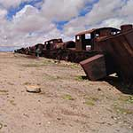 Second visit to the Salar de Uyuni. The train cemetery is still dry...