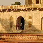 ...on the Itimad-Ud-Daulah, better known as the Baby Taj, across the river
