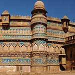 The Man Singh Palace at Gwalior Fort