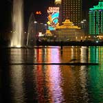 Casinos with lone late night canoeist!