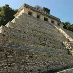 Templo de las Inscripciones, at Palenque, where King Pakal's (died 683) crypt was discovered in 1952