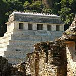 Palenque, restored and unrestored...