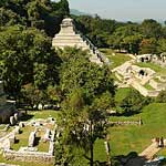 Panorama of Palenque.