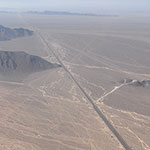 The Pan-American Highway cuts right through the Nazca plain...