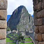 Inca doorway. I think it's compulsory to get Wayna Picchu in your photos :)