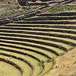 Rice terraces above Pisac in the Sacred Valley